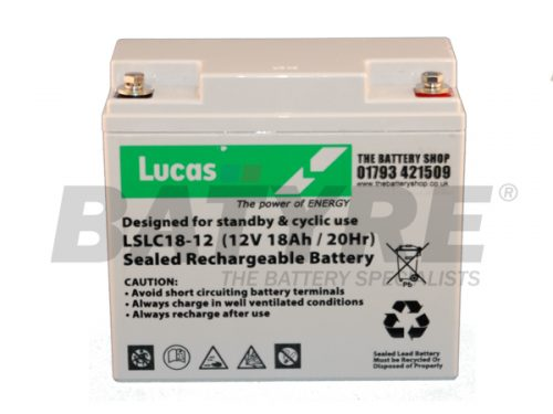 Lucas LSLC18 AGM Standby/ Cyclic 12v 18ah Battery