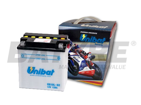 UNIBAT CB10L-B 12V 11Ah FLA Motorcycle Battery