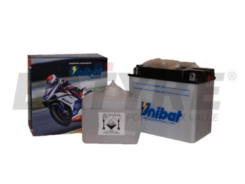 UNIBAT CB12A-A 12V 12Ah FLA Motorcycle Battery