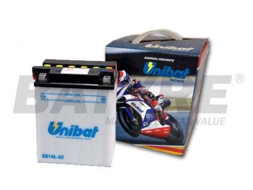 UNIBAT CB14L-A2 12V 14Ah FLA Motorcycle Battery