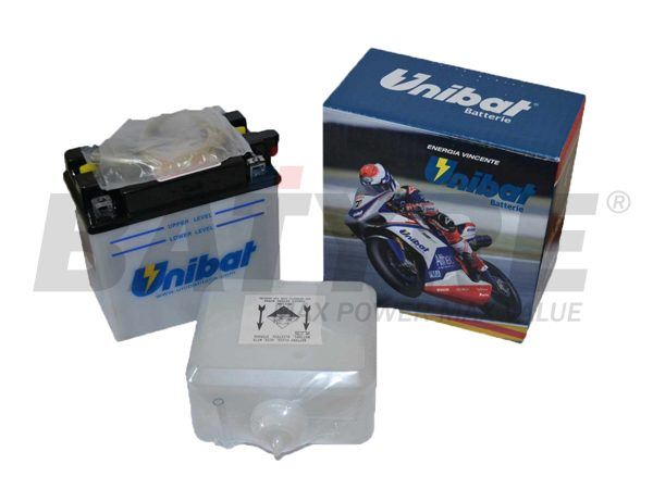 UNIBAT CB16AL-A2 12V 16Ah FLA Motorcycle Battery
