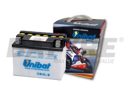 UNIBAT CB4L-B 12V 4Ah FLA Motorcycle Battery
