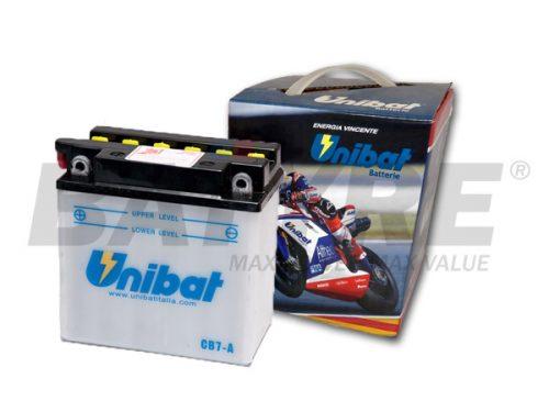 UNIBAT CB7-A 12V 8Ah FLA Motorcycle Battery
