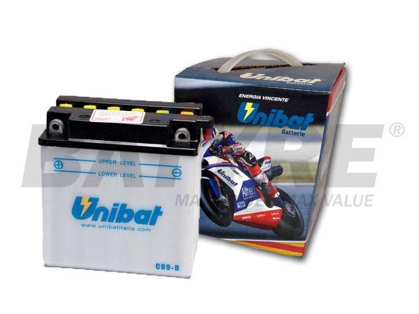 UNIBAT CB9L-B 12V 9Ah FLA Motorcycle Battery