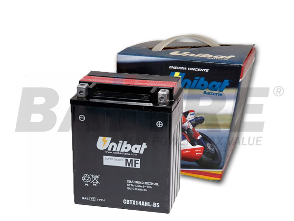 UNIBAT CBTX24AHL-BS 12V 21Ah MOTORCYCLE Battery