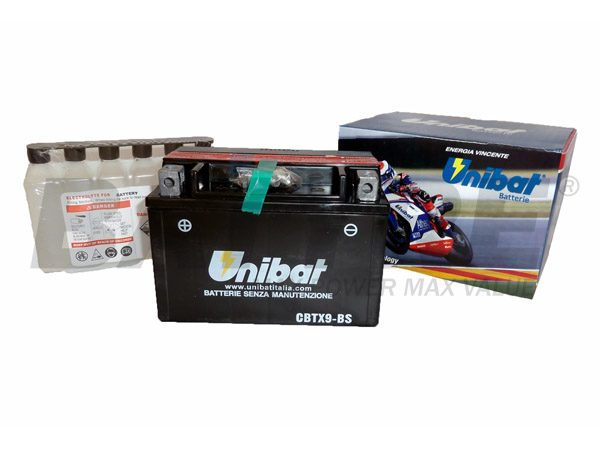 UNIBAT CBTX9-BS 12V 8Ah SLA Motorcycle Battery