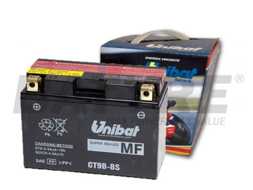 UNIBAT CT9B-BS 12V 8Ah AGM Motorcycle Battery