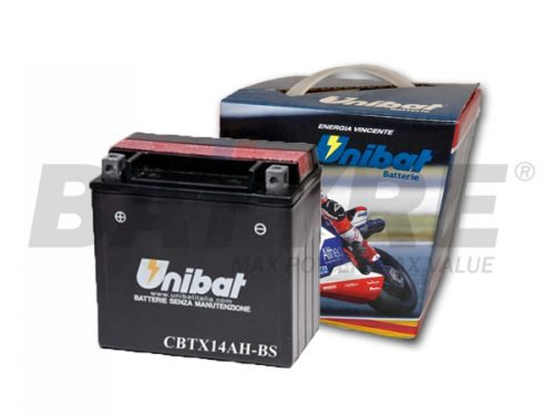 UNIBAT CBTX14AH-BS 12V 12Ah Motorcycle Battery