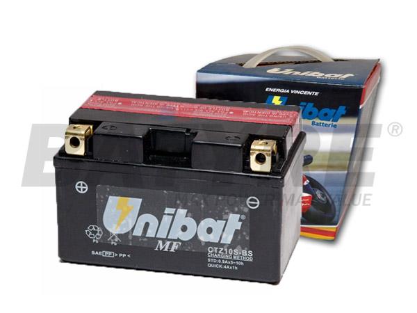 UNIBAT CTZ10S BS 12V 9Ah AGM Motorcycle Battery