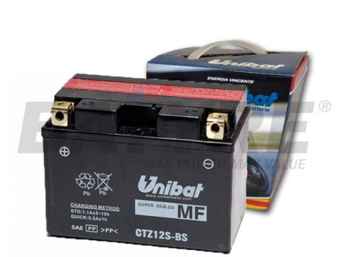 UNIBAT CTZ12S-BS 12V 11Ah AGM Motorcycle Battery