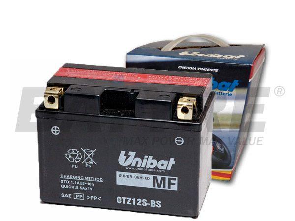 UNIBAT CTZ12S-BS 12V 11Ah AGM Motorcycle Battery