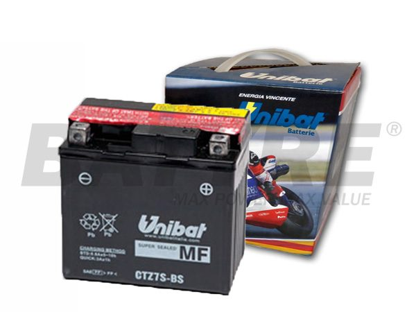 UNIBAT CTZ7S 12V 6Ah AGM Motorcycle Battery