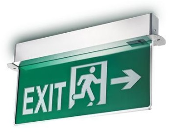 Battery back up emergency exit light