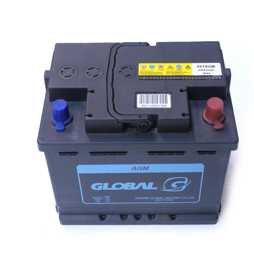 global 027 62ah agm starter battery batyre. Black Bedroom Furniture Sets. Home Design Ideas