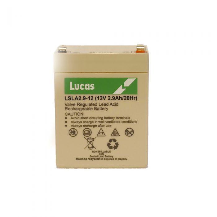 LSLA2.9-12 Lucas Battery - 2.9ah, 12volt battery