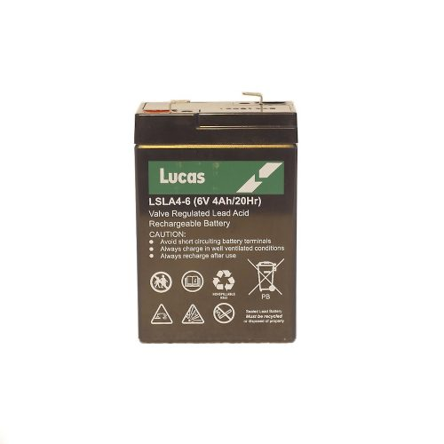 LSLA4-6 Lucas Battery - 4 ah, 6 volt battery