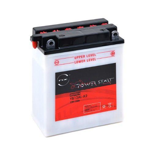 Motorcycle battery YB12AL-A / YB12AL-A2 12V 12Ah - B21078S - MOT074