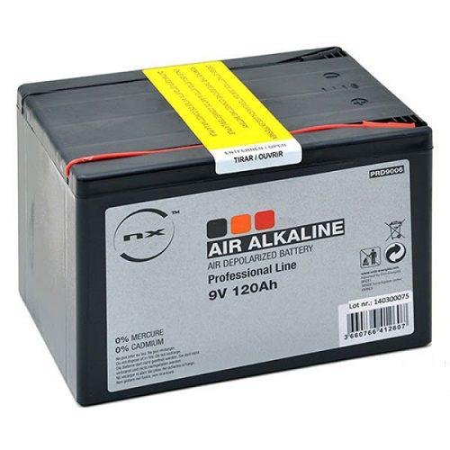 Alkaline air depolarised battery NX range 9V 120Ah - B31033S - PRD9006